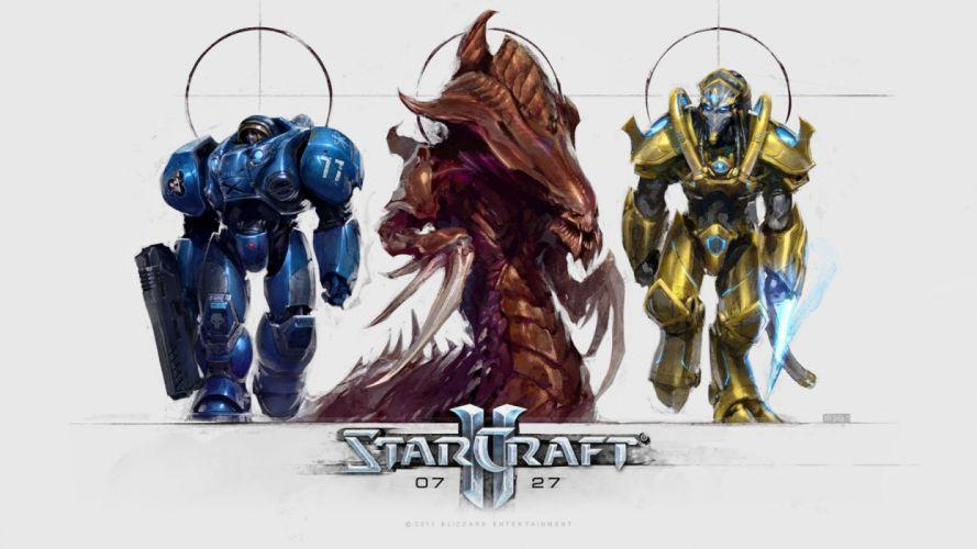 STARCRAFT futuristic sci-fi technics rts strategy military action fighting wallpaper