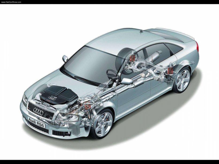 Audi RS6 Sedan 4B-C5 2002 Cutaway wallpaper