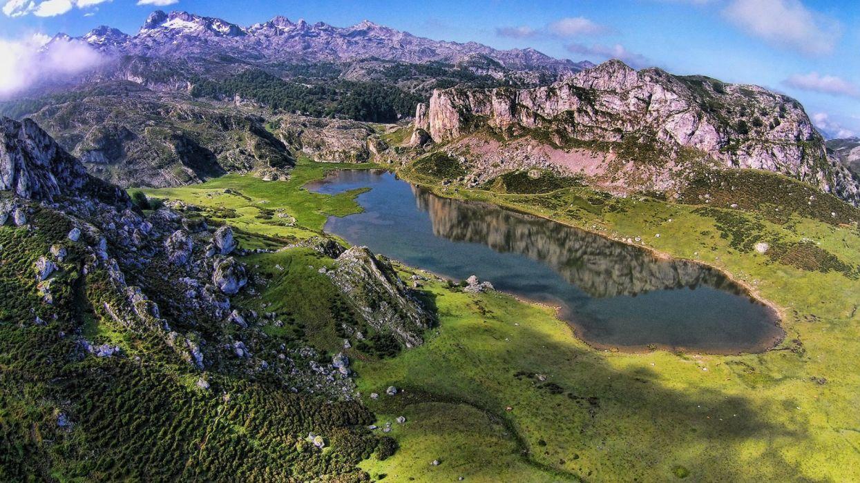lagos covandoga asturias espay wallpaper