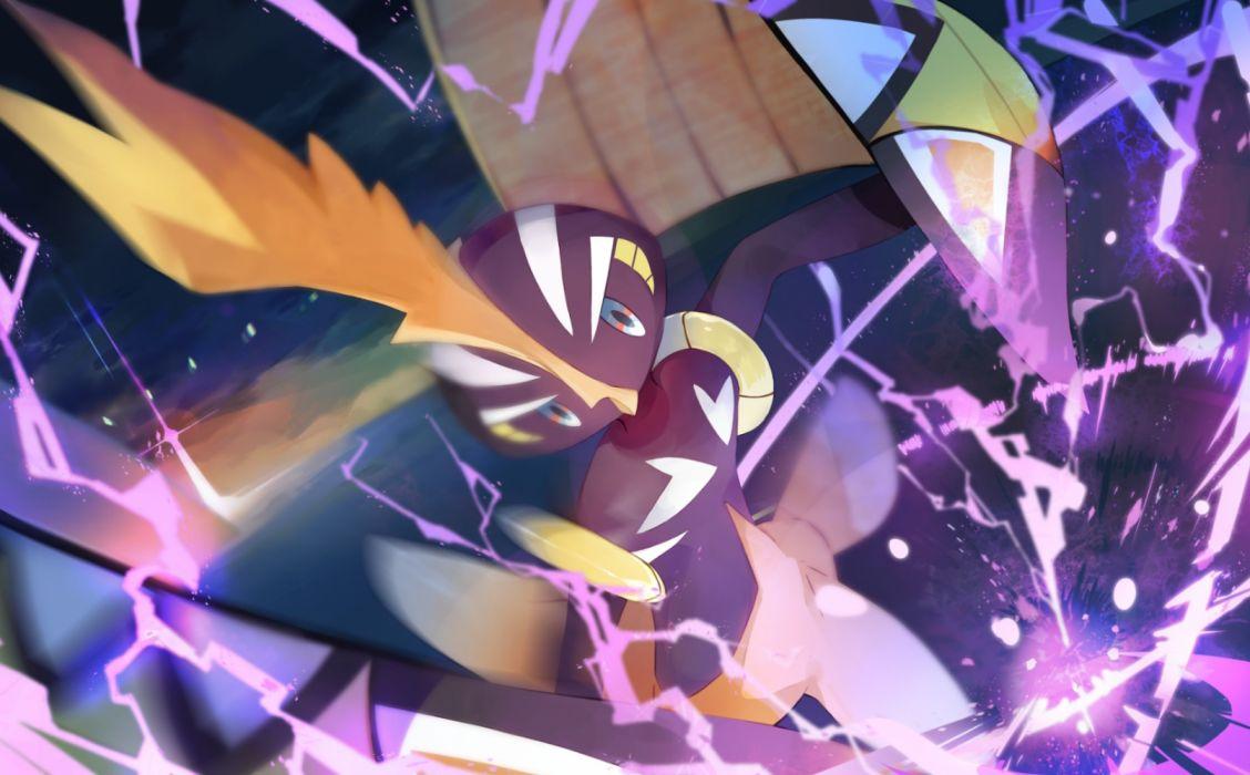 Konachan com - 252237 ab-ten animal bird pokemon tapu koko wallpaper