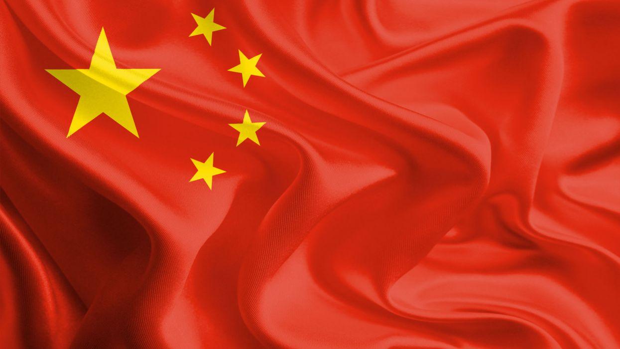 bandera republica popular china asia wallpaper