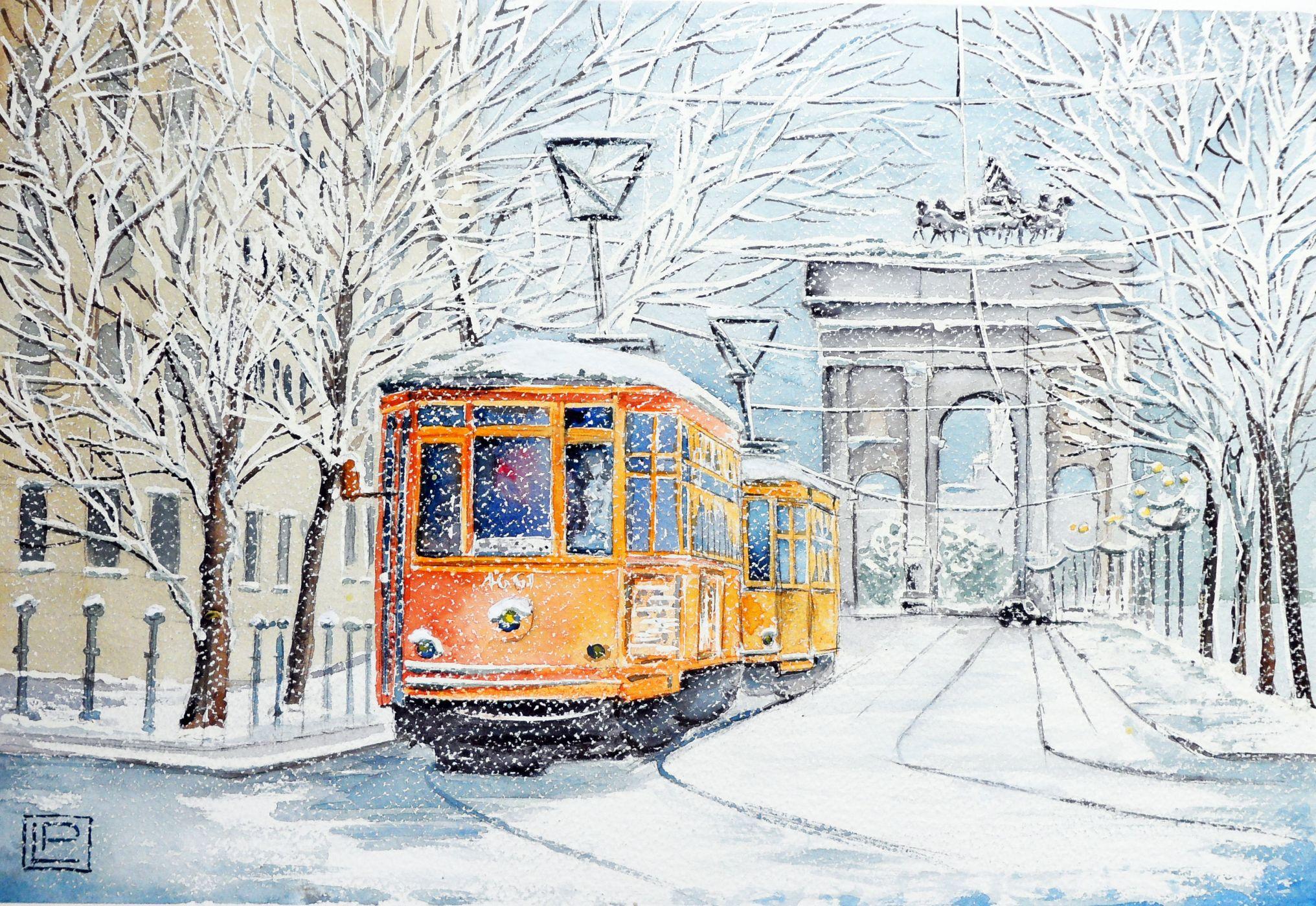 Нарисованная, открытки с трамваями