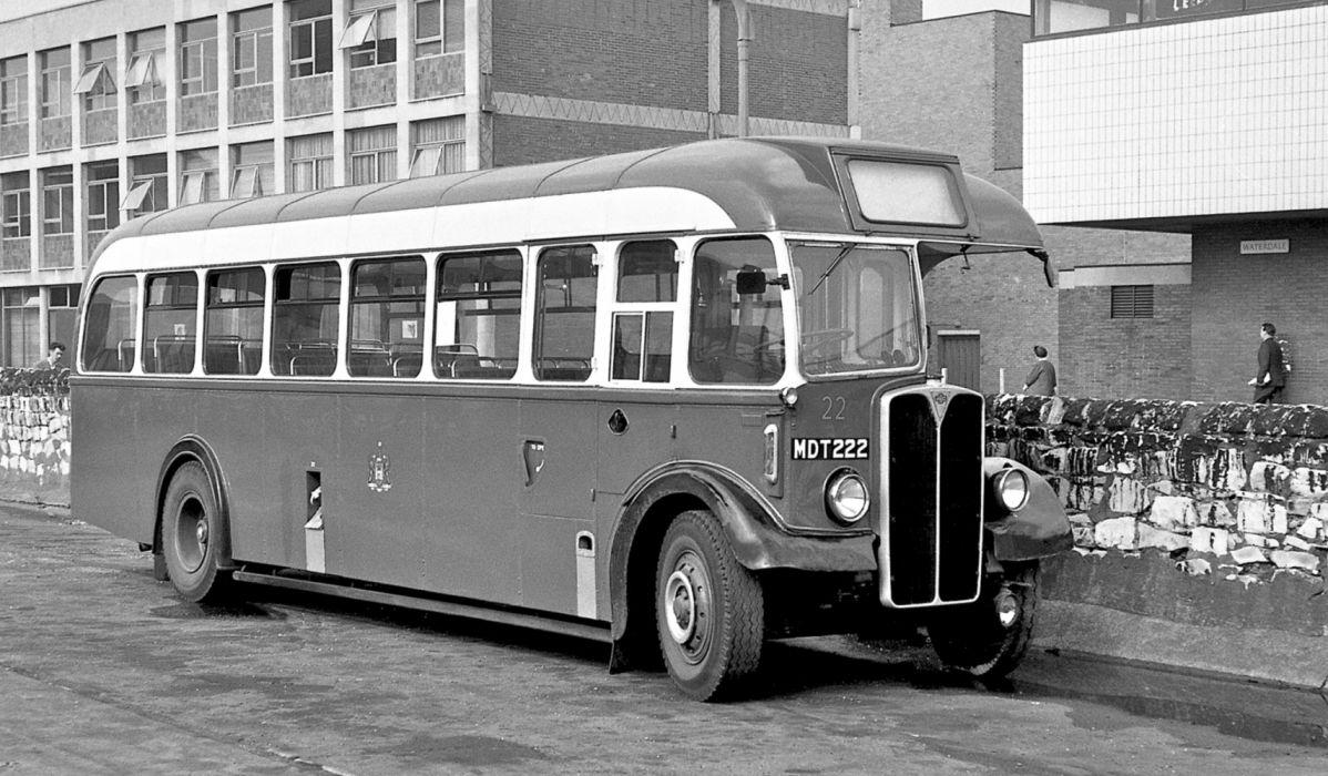1953 AEC Regal III 9621A Roe UK-spec (B39F) vintage retro bus transport wallpaper