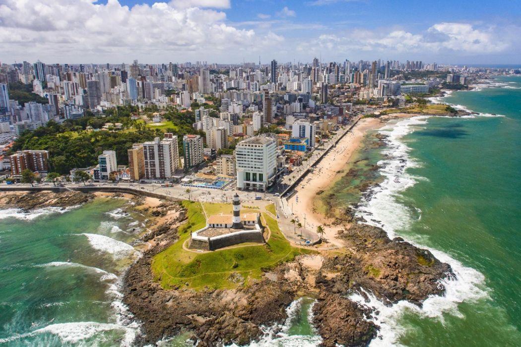 Salvador De Bahia Ciudad Brasil Mar Edificios Wallpaper