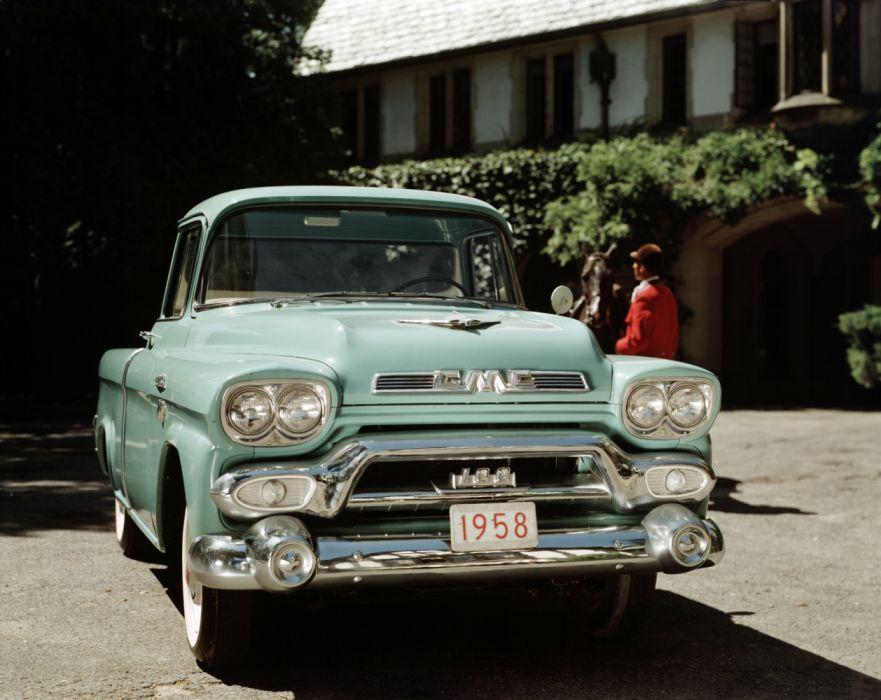 1958 GMC S-100 Pickup truck vintage retro wallpaper