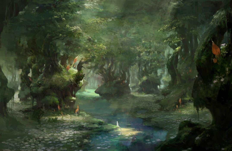 fantasy original forest beauty wallpaper