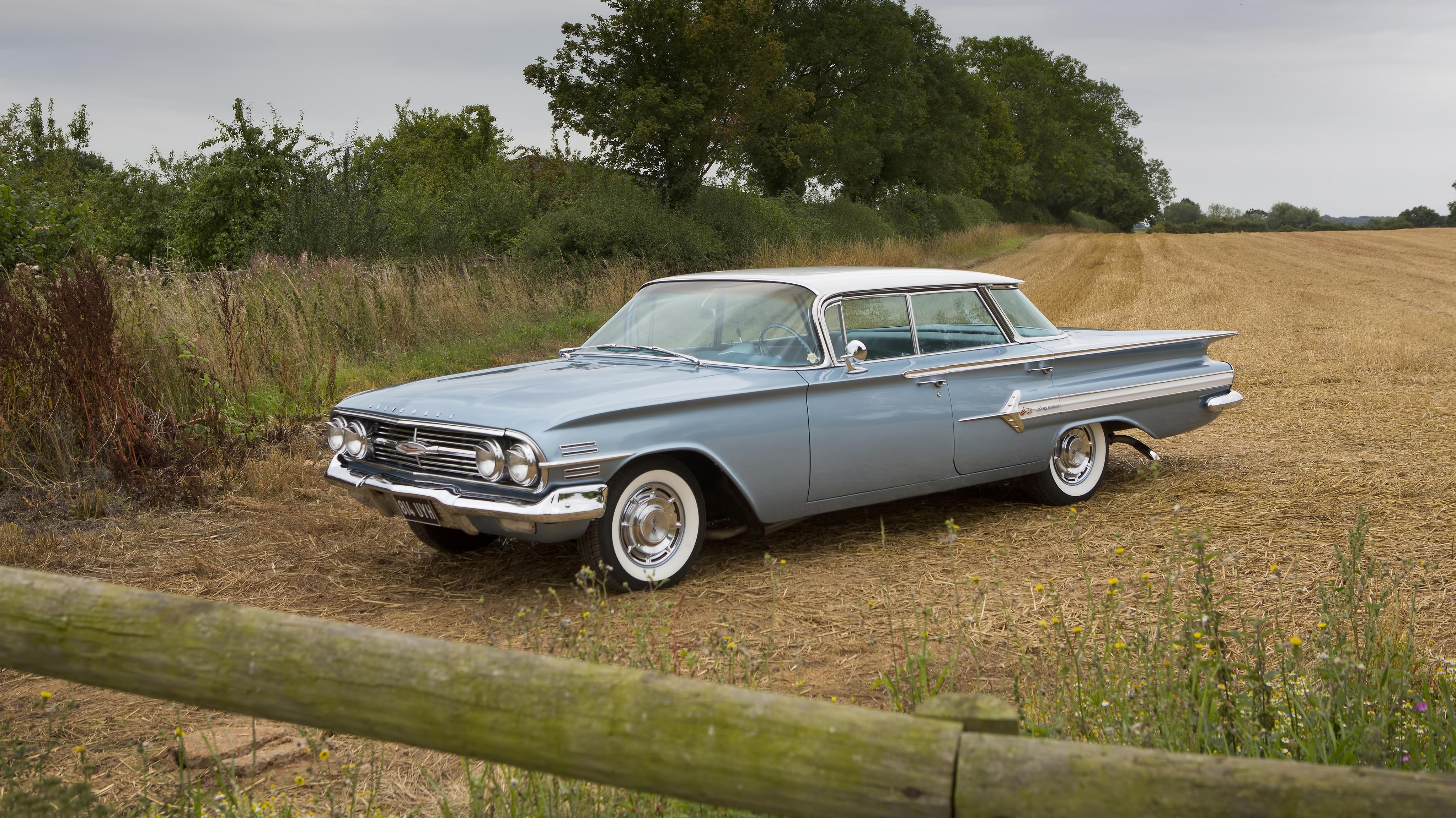 1960 chevrolet impala sport sedan classic wallpaper