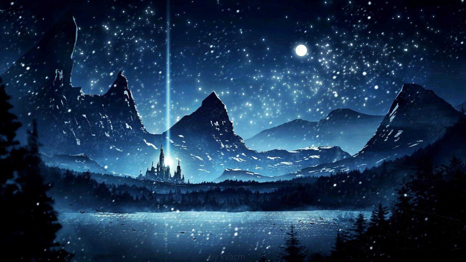 Картинка ночь арт