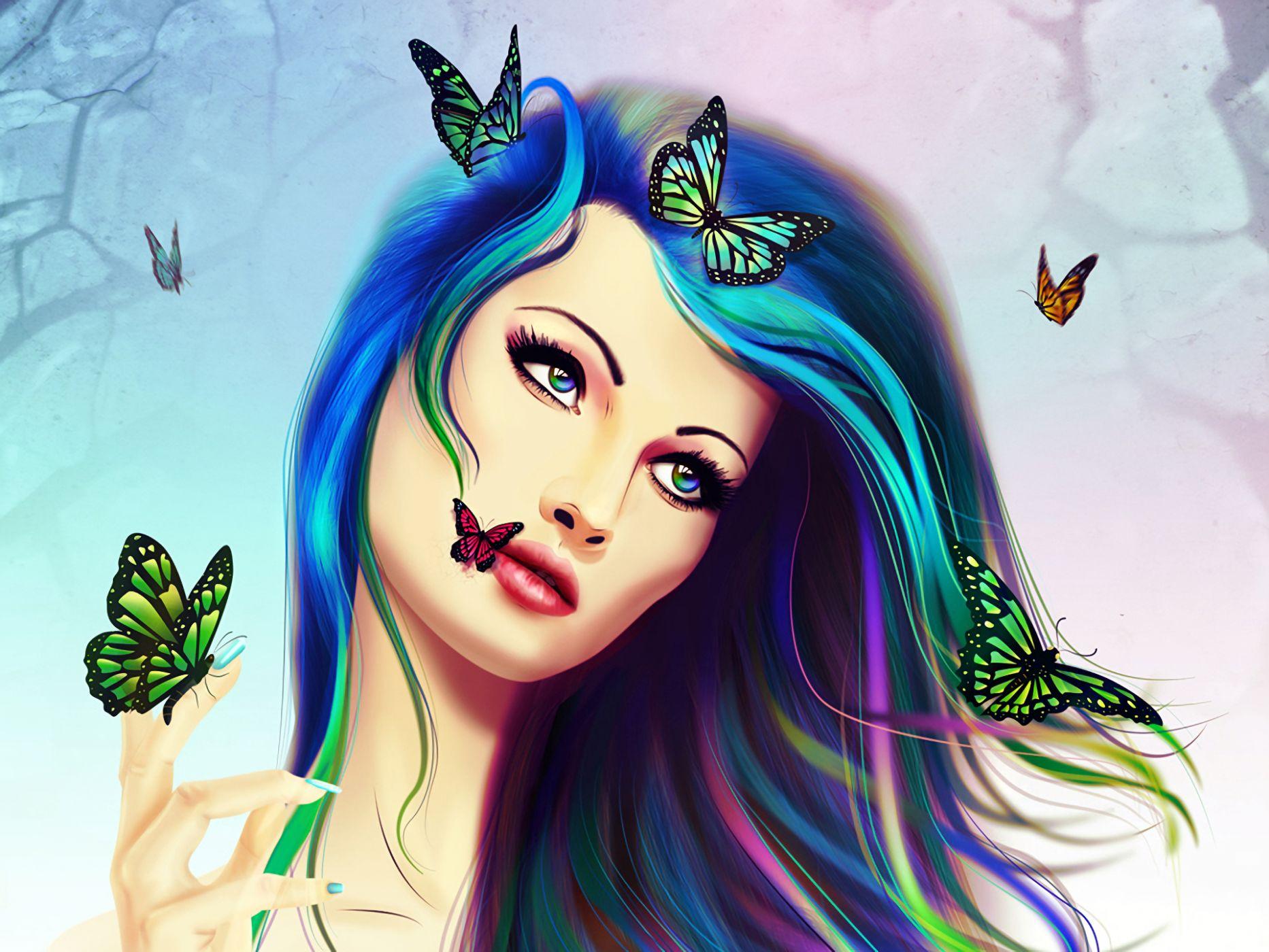 Картинки красивые цветные для девочек