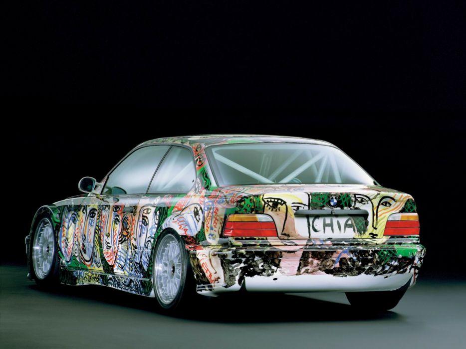 BMW 3 Series Coupe Art Car by Sandro Chia E36 1992 wallpaper