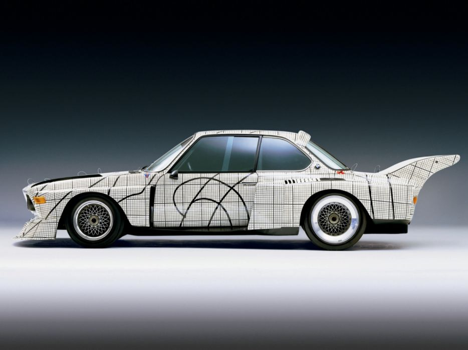 BMW 3 0 CSL Art Car by Frank Stella Batmobile Classic Race Car wallpaper