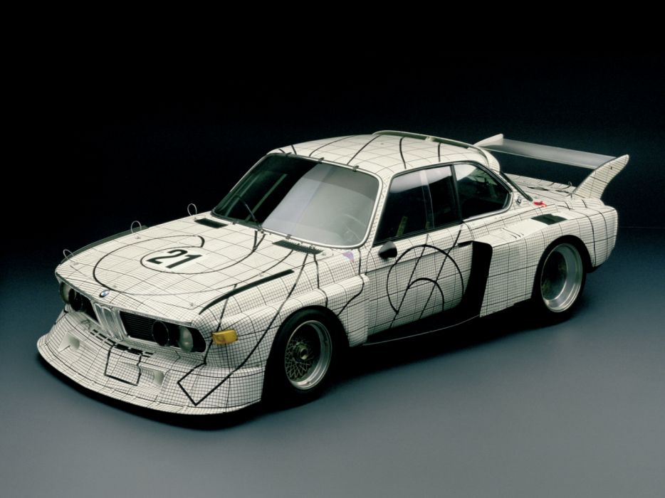 BMW 3 0 CSL Art Car by Frank Stella Batmobile Classic Race Car wallpaper