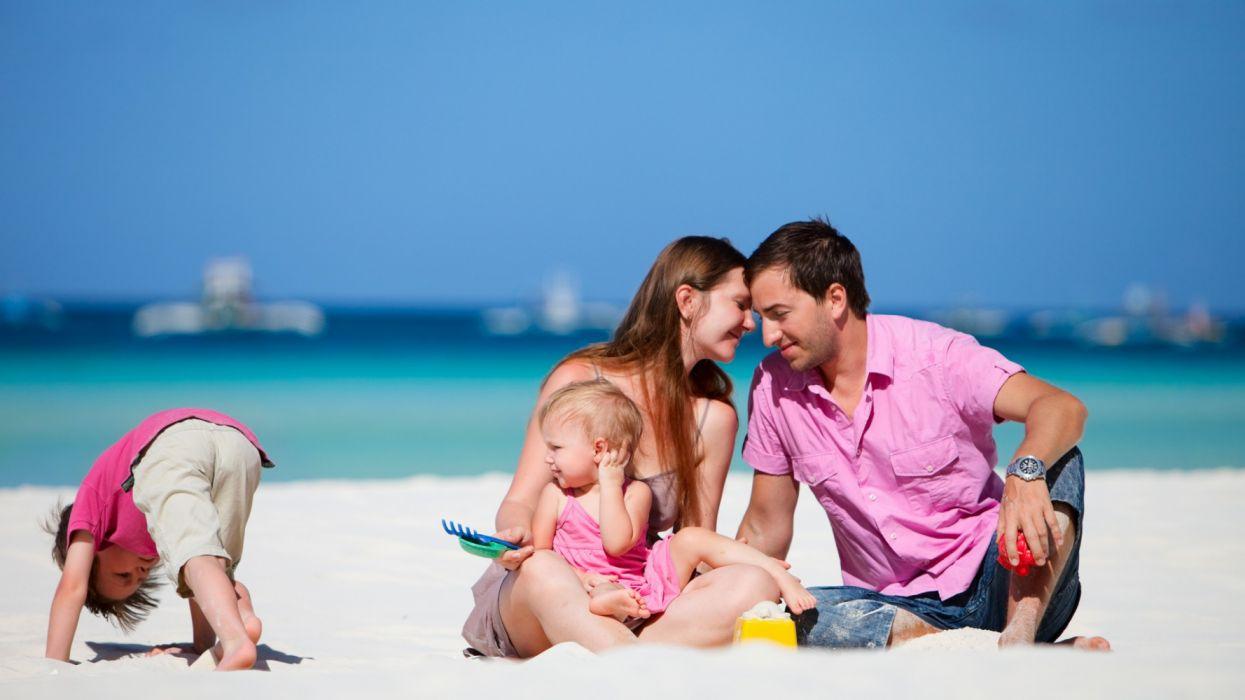 vacaciones familia playa niy wallpaper