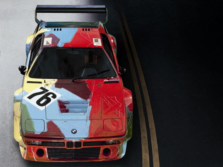 BMW-M1 Group 4 Rennversion Art Car by Andy Warhol 1979 Classic Race Car wallpaper