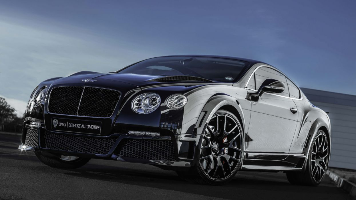 Wallpaper bentley continental gt onyx tuning black front wallpaper