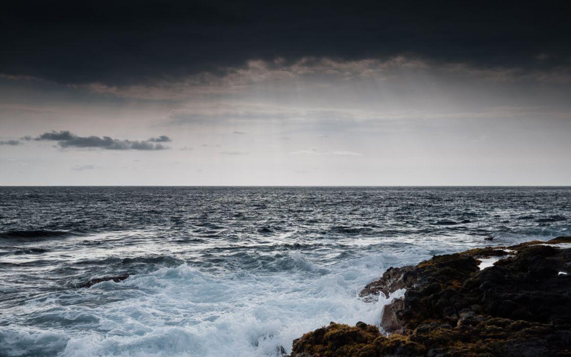 mar rocas cielo naturaleza wallpaper
