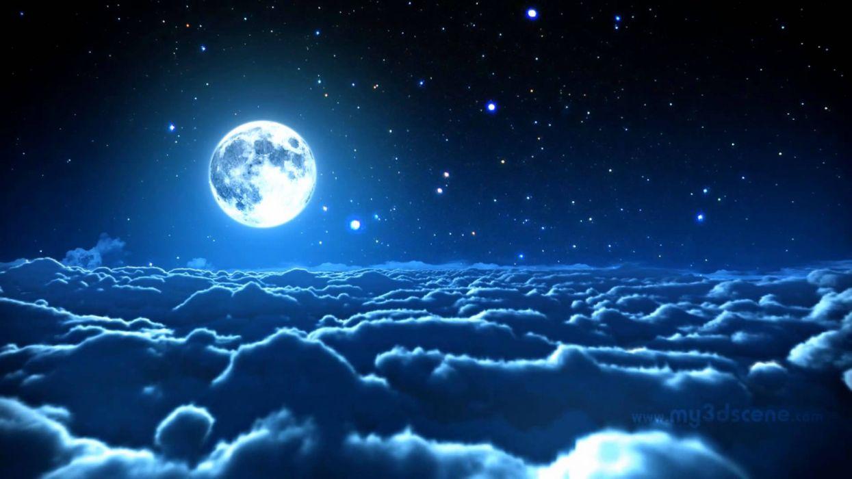 cielo nubes estratosfera luna estrellas naturaleza wallpaper