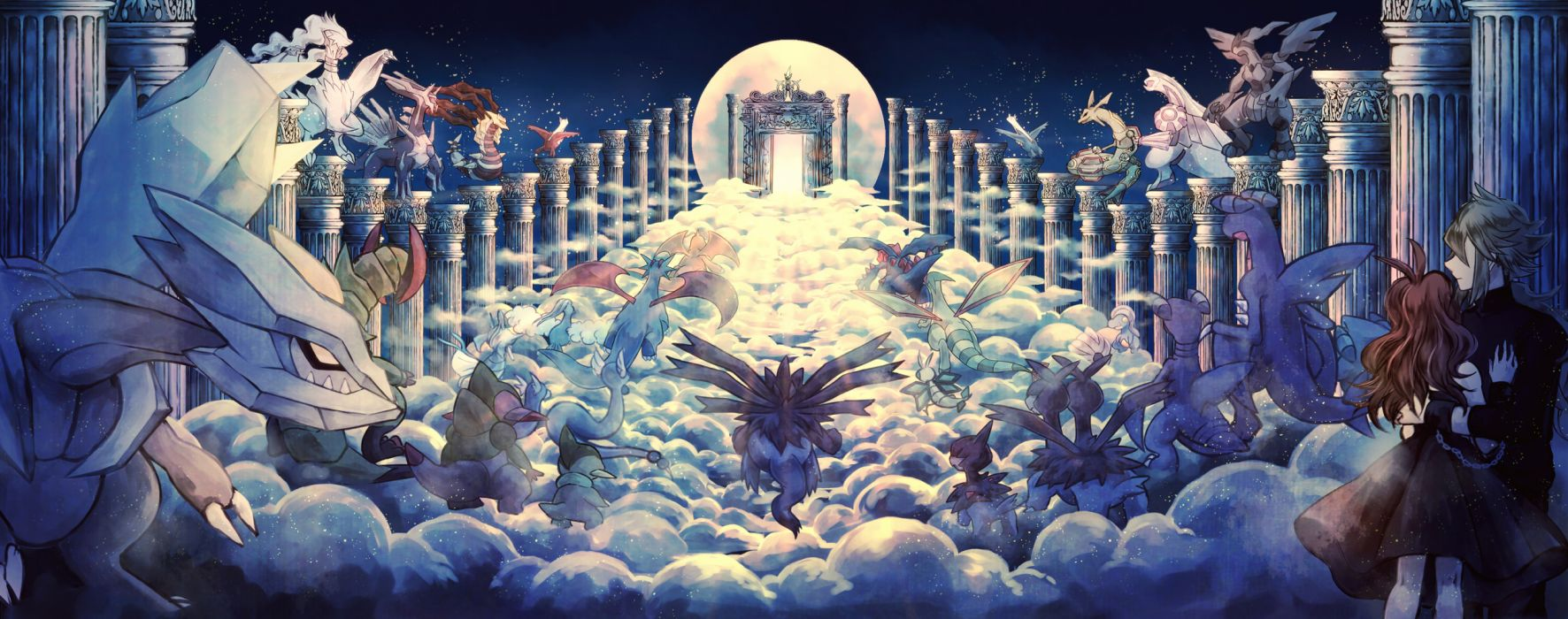 Konachan com - 257532 arceus axew bagon chain clouds dialga dratini flygon gible haxorus kingdra kyurem latias latios moon n palkia pokemon shelgon torute vibrava zekrom wallpaper