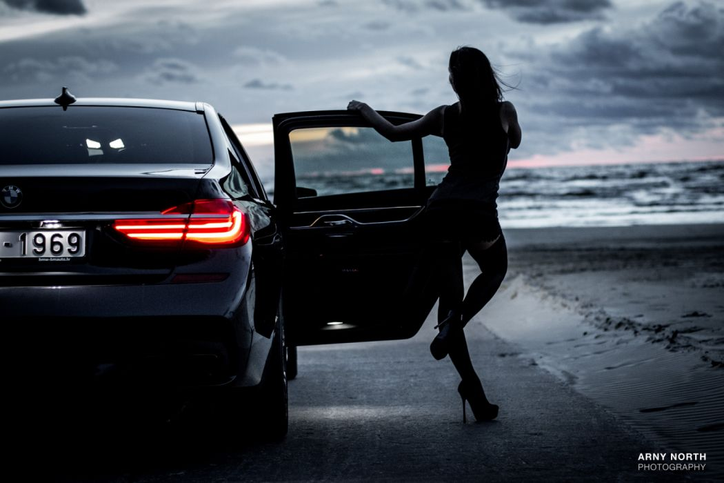 Bmw Girl Wallpaper By Jokensy: Car BMW Girl Sea Sexy Wallpaper