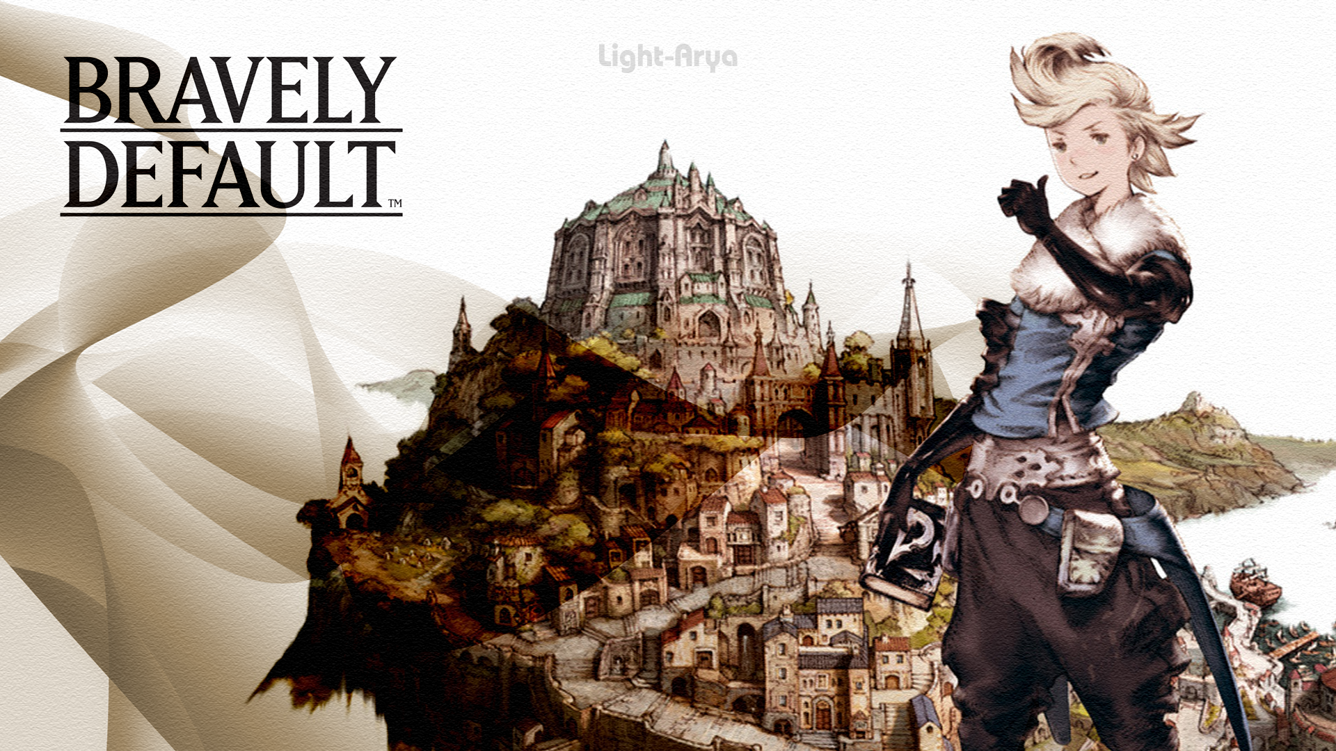 BRAVELY DEFAULT anime rpg adventure nintendo 3DS action ...