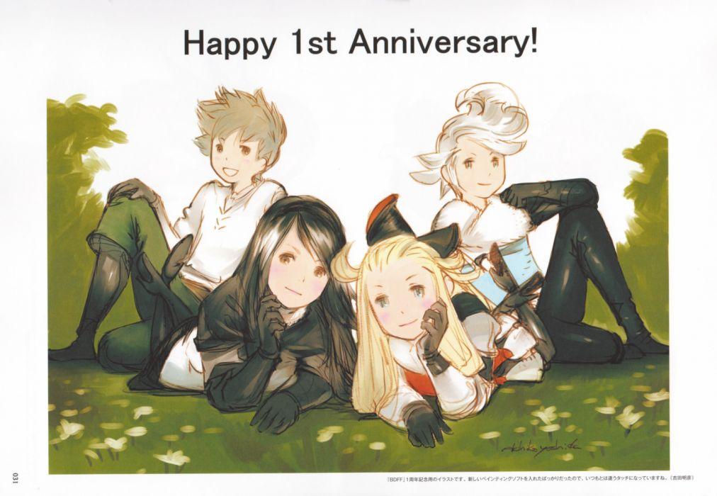 BRAVELY DEFAULT anime rpg adventure nintendo 3DS action fighting fantasy wallpaper