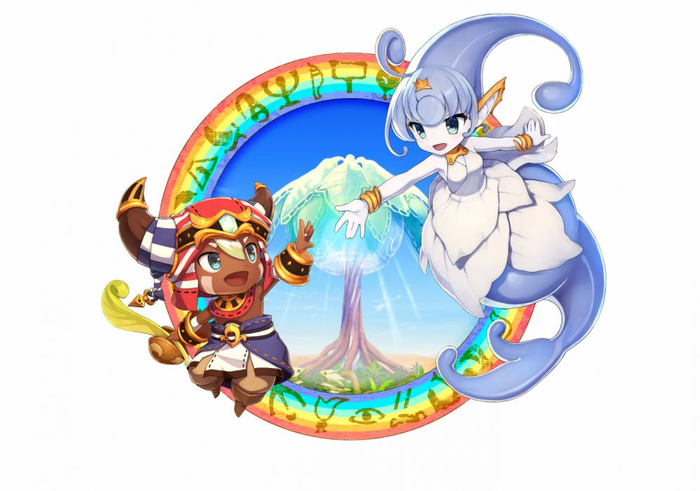EVER OASIS anime action adventure fantasy 1evea rpg nintendo 3DS dungeon crawler simulation wallpaper