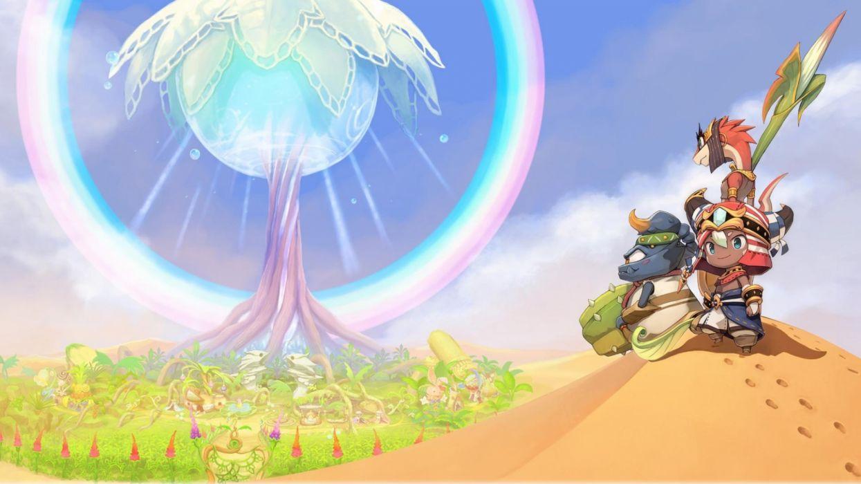 EVER OASIS anime action adventure fantasy 1evea rpg nintendo 3DS dungeon crawler simulation wallpaper