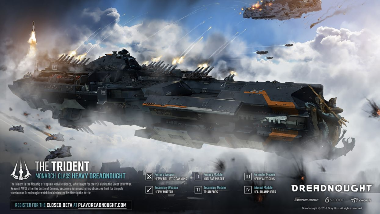 DREADNAUGHT sci-fi futuristic spaceship ship battleship warship combat flight simulator action fighting tactical strategy wallpaper