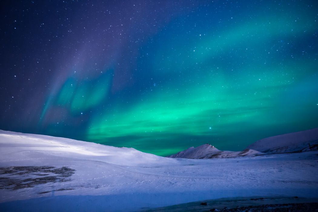 Aurora Borealis Earth Light Sky Snow Winter wallpaper