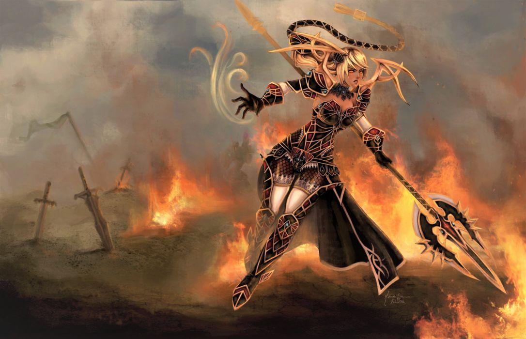Fantasy Fire Girl Janna League Of Legends wallpaper
