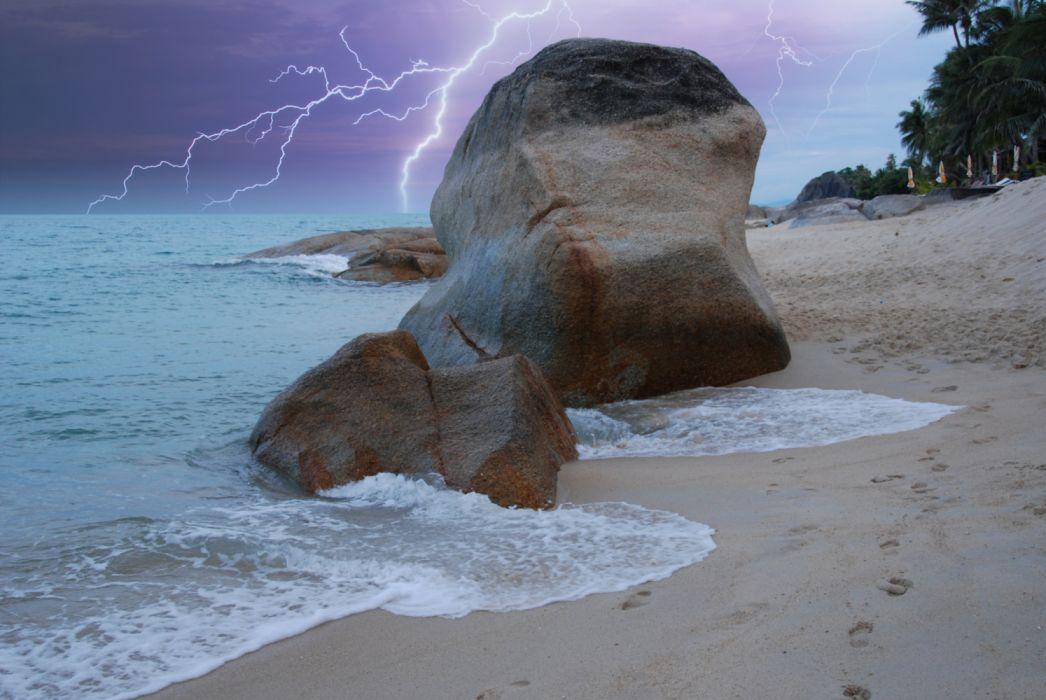 Thailand Tropics Coast Stones Waves Koh-Samui 539504 2600x1740 wallpaper