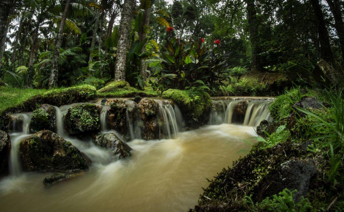 Portugal Parks Waterfalls Terra Nostra Gardens 539494 3590x2215 wallpaper