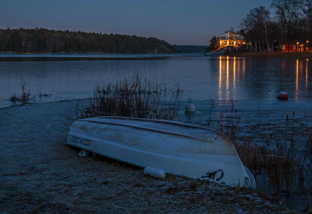 Sweden Evening Rivers Coast Boats 539507 3500x2404 wallpaper