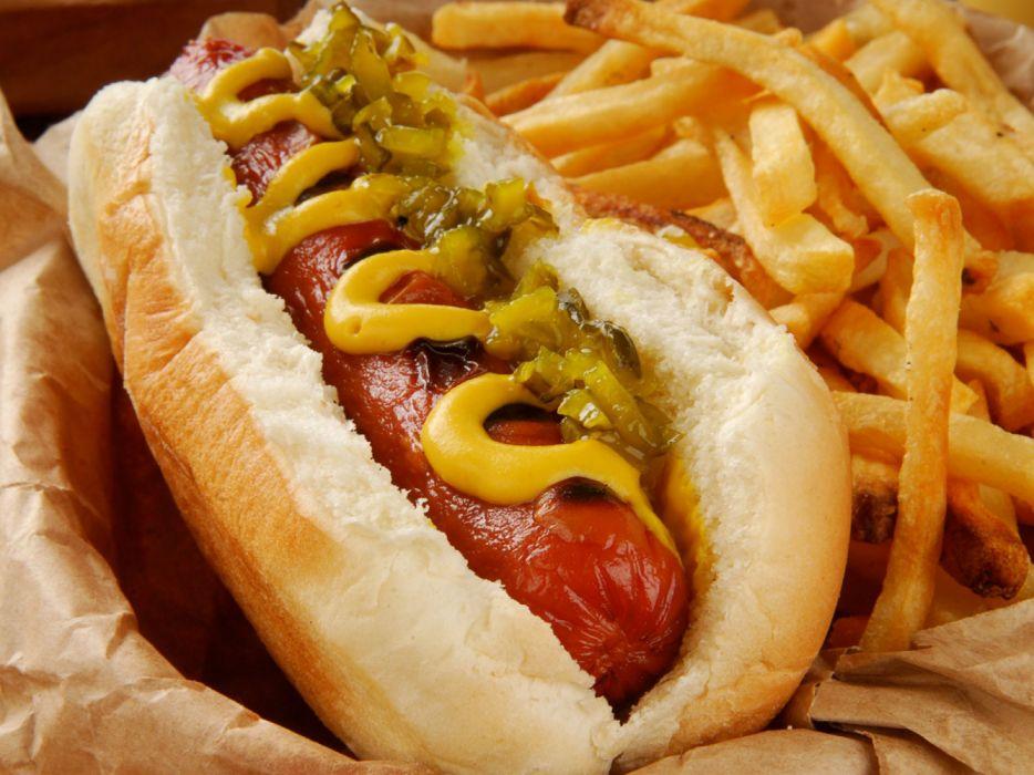 Hot Dog Ketchup Patatas Food Wallpaper 1920x1440 1193686