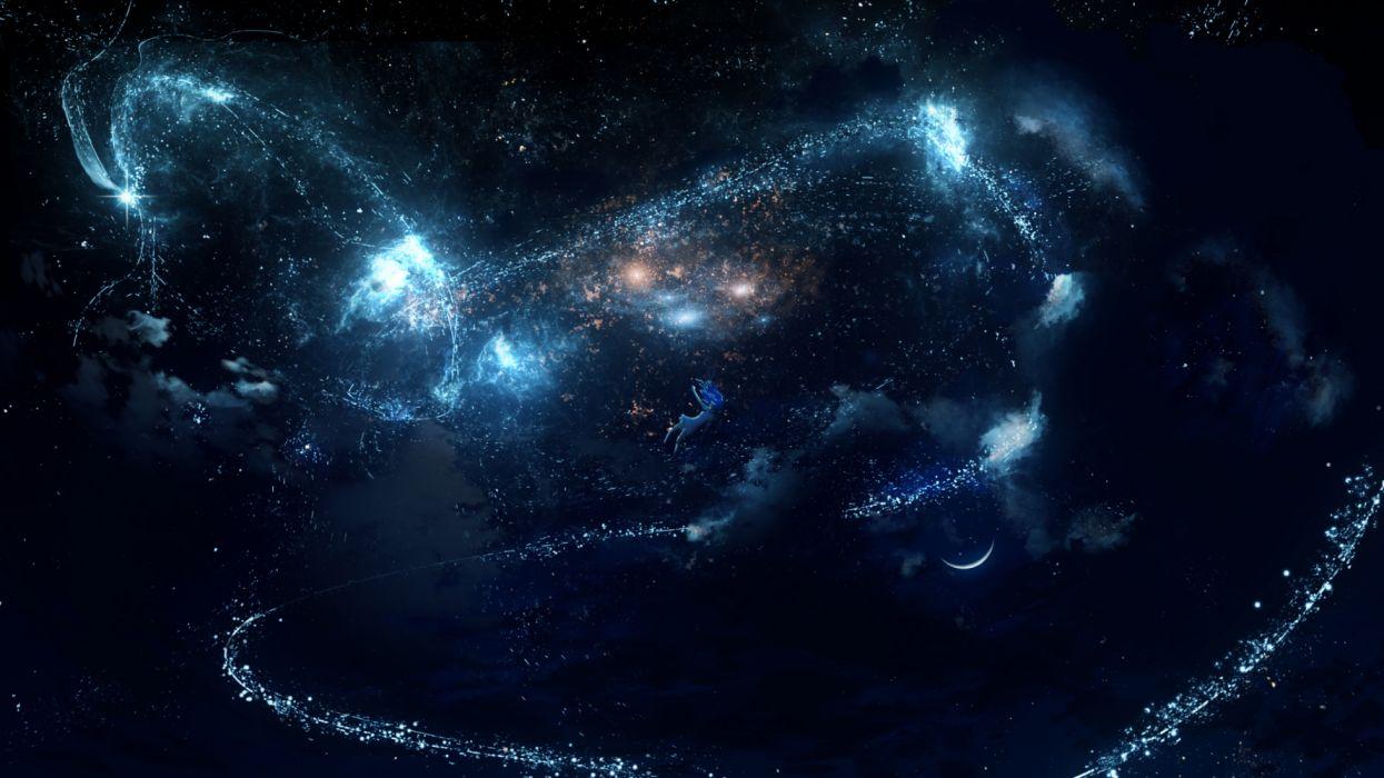 dragons space sky figures fantasy wallpaper