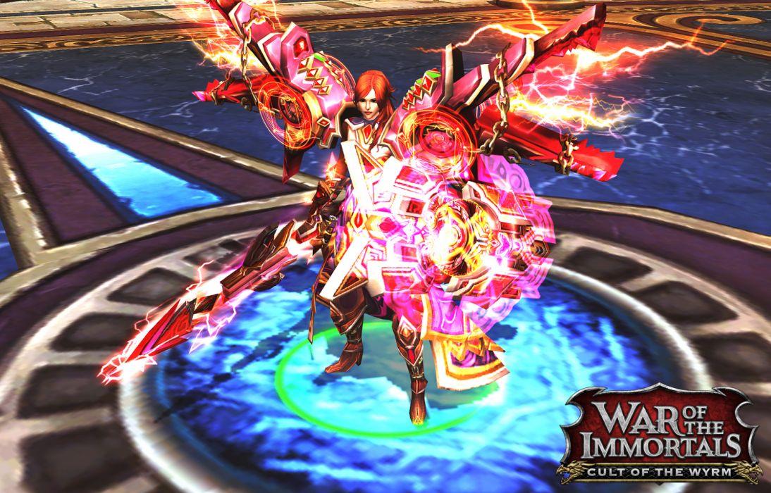 War immortals fantasy gods mmo rpg online action fighting - Wallpaper 1600x1024 ...
