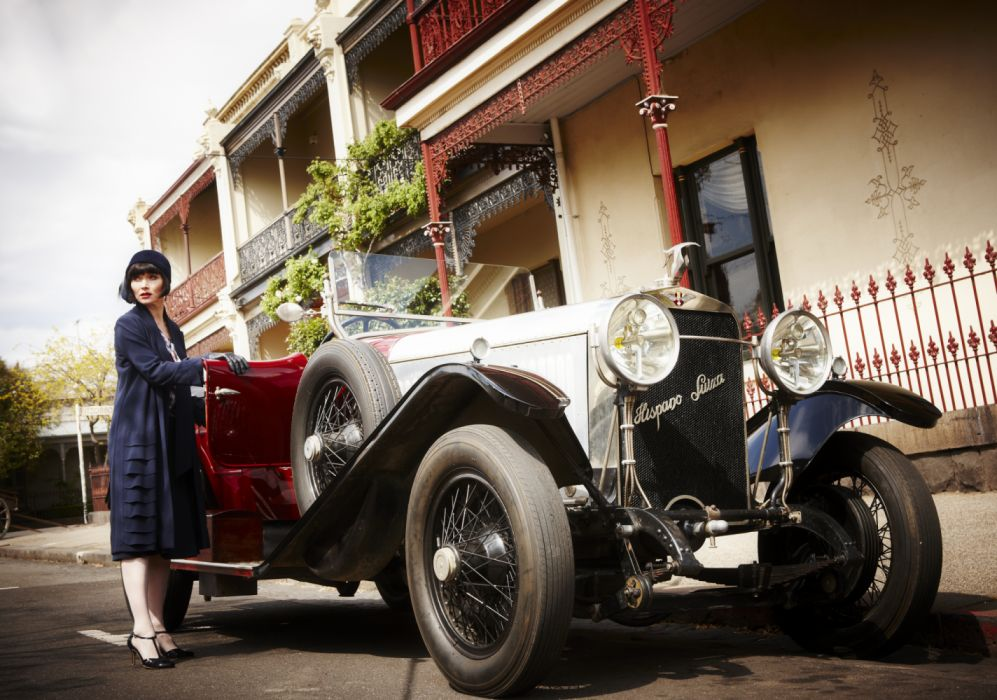 antiguo coche hispano suizo mujer wallpaper