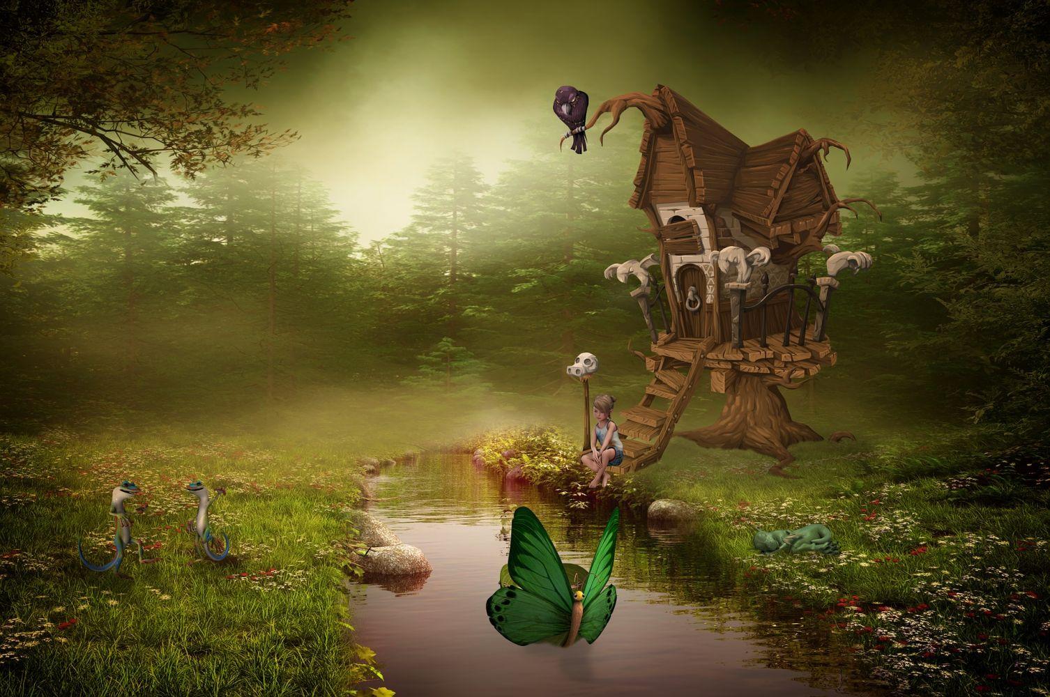 Креативные картинки сказочные фэнтези
