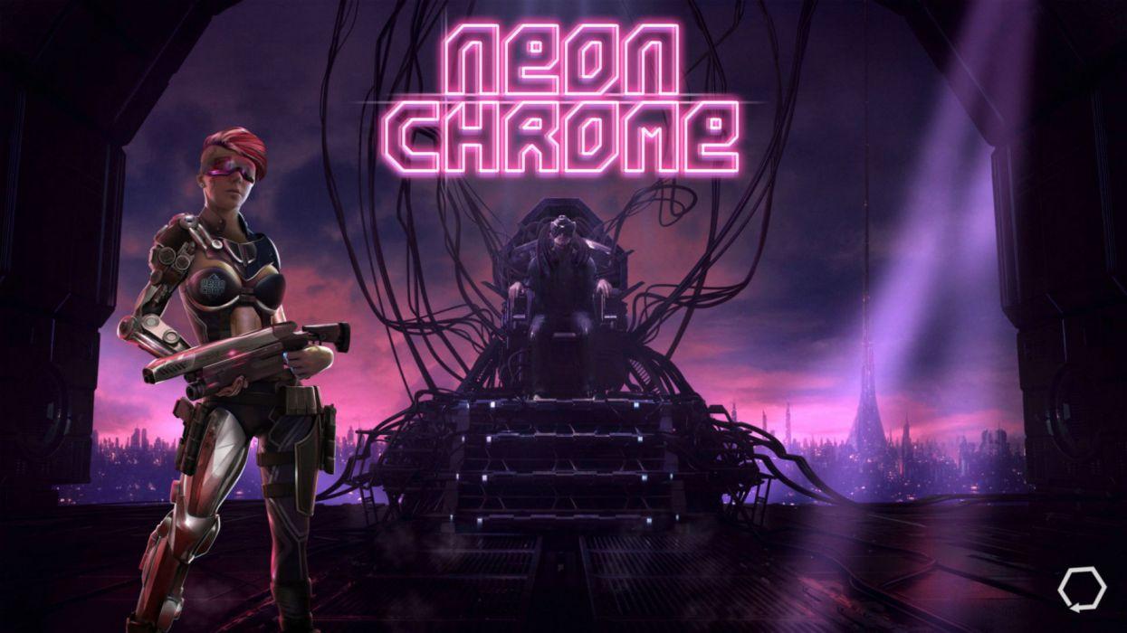 NEON CHROME 1neonc sci-fi technics futuristic science fiction shooter fps action fighting warrior cyberpunk wallpaper