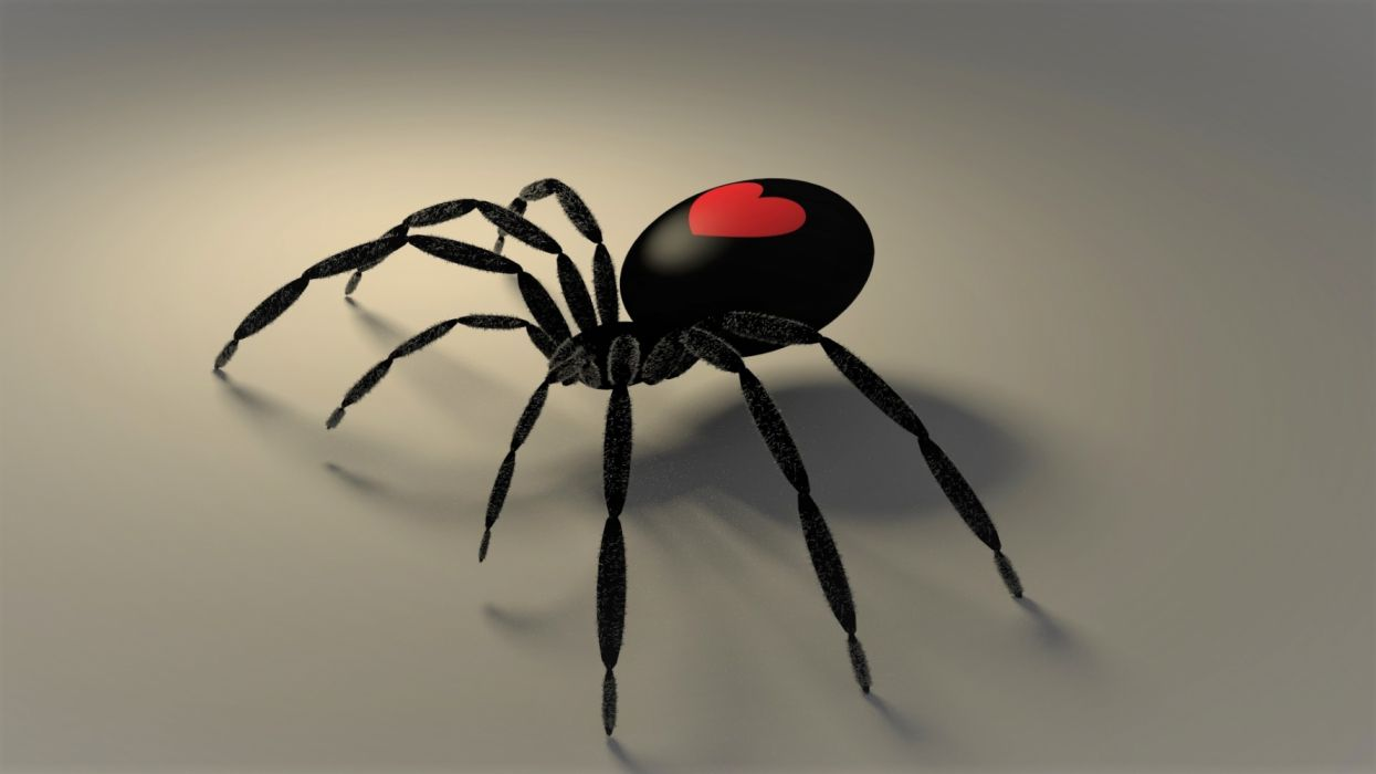 Gothic Heart Red Spider Valentine's Day wallpaper ...