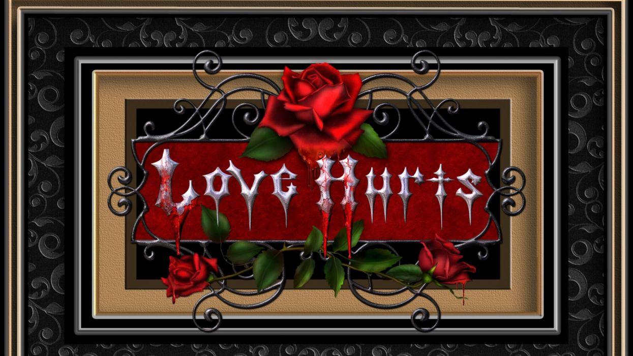 Artistic Blood Design Frame Gothic Love Red Rose Rose wallpaper