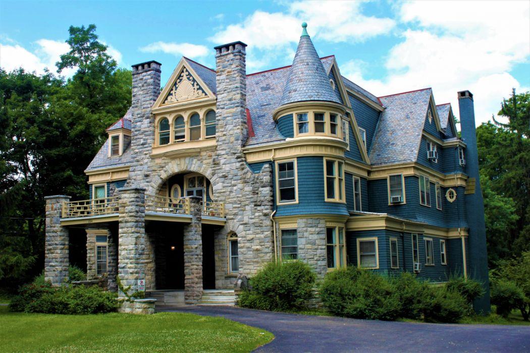Brick Building House Victorian wallpaper