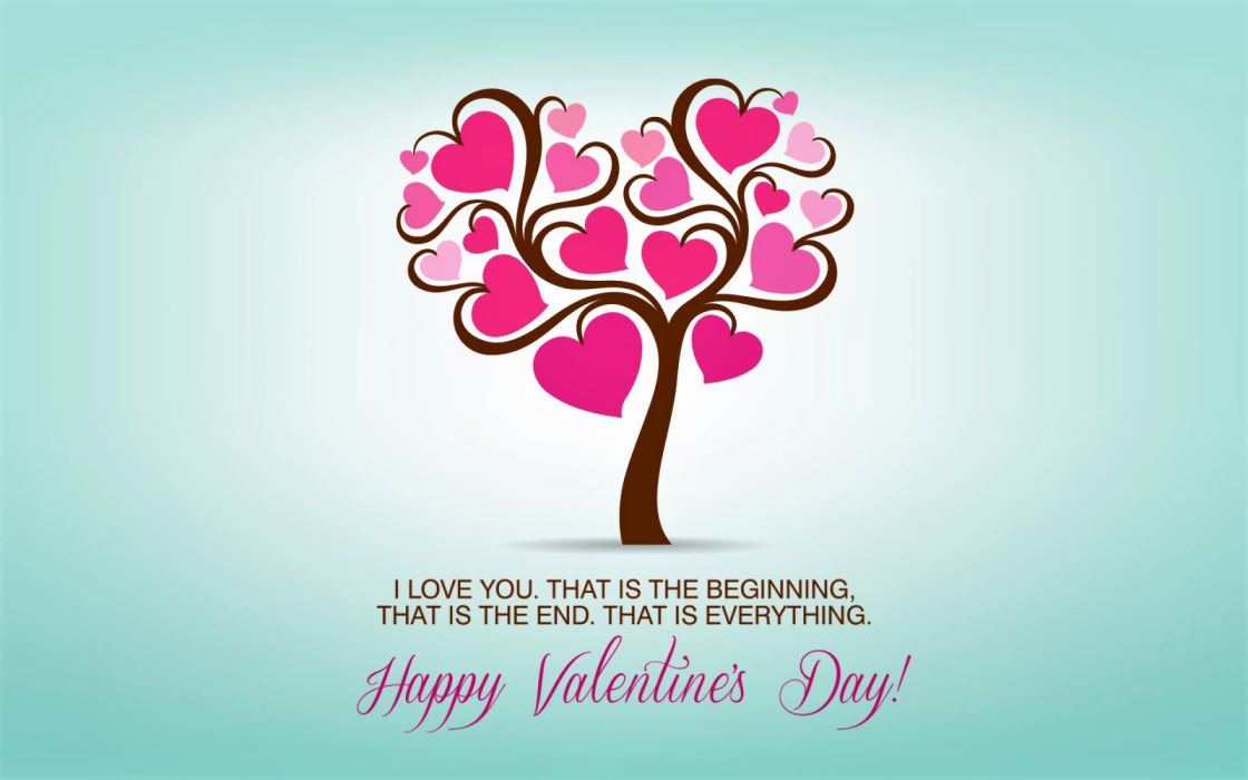 Happy Valentine's Day Heart Holiday Love Statement Tree ...