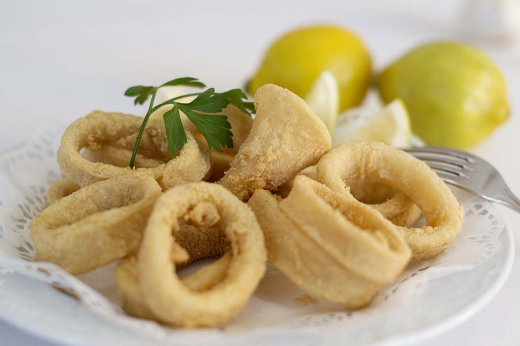 calamares romana plato limones aperitivo wallpaper