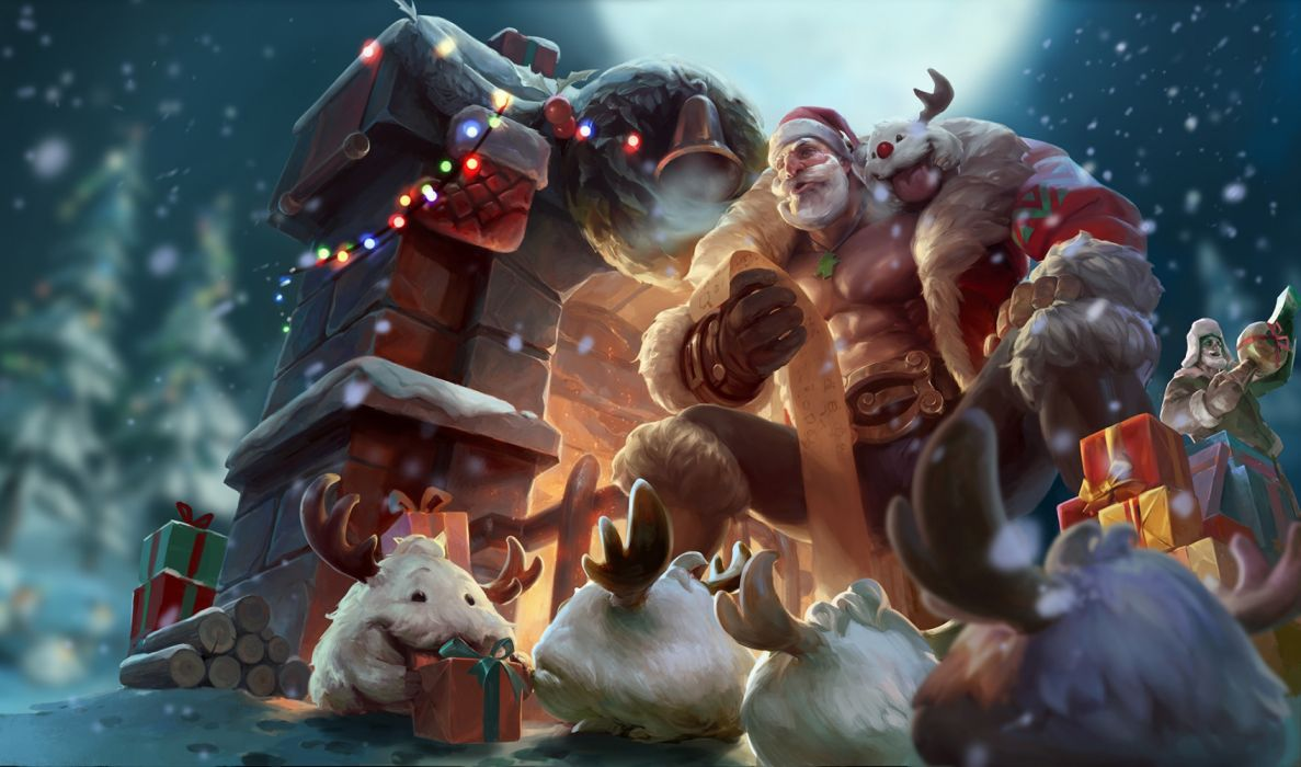 Christmas Creature Gift League Of Legends Wallpaper 1920x1133
