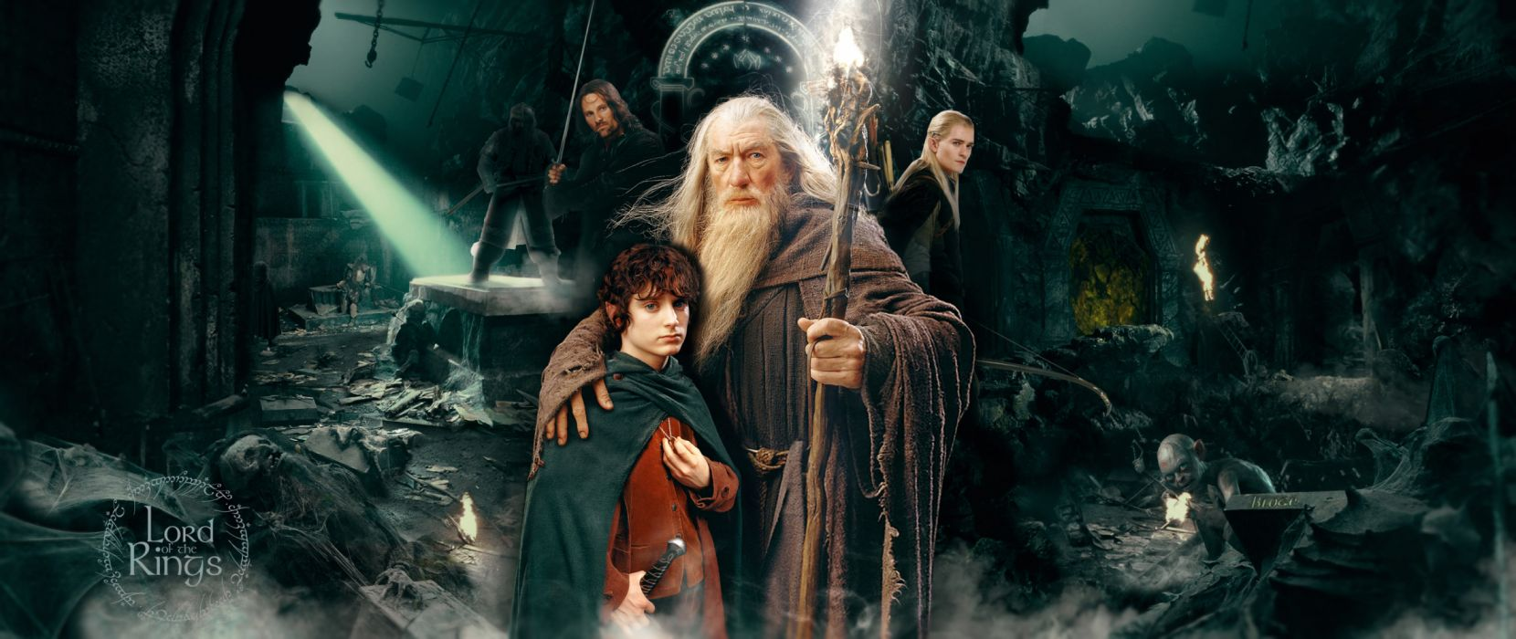Aragorn Frodo Baggins Gandalf Gimli Lord of the Rings wallpaper