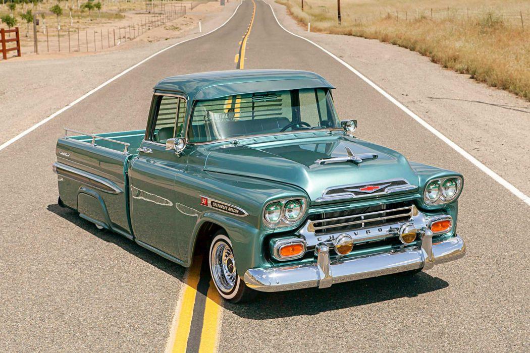 1959 Chevrolet Apache Lowrider Vehicle Auto Automobile
