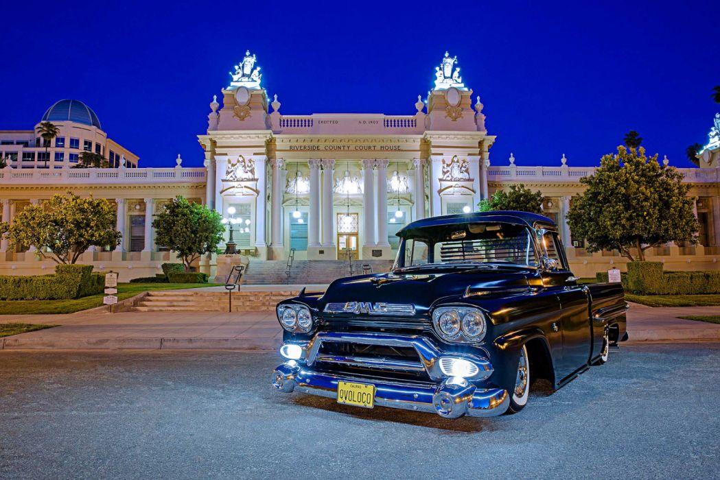 1958 Gmc 100 Lowrider Vehicle Auto Automobile Custom Truck Pickup Wallpaper 2039x1360 1200857 Wallpaperup