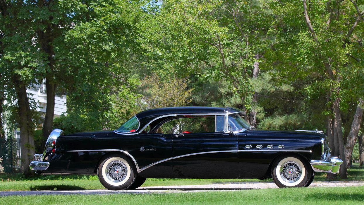 1954 Buick Roadmaster Riviera Hardtop 76r 4737x Retro Vintage Luxury Convertible Wallpaper