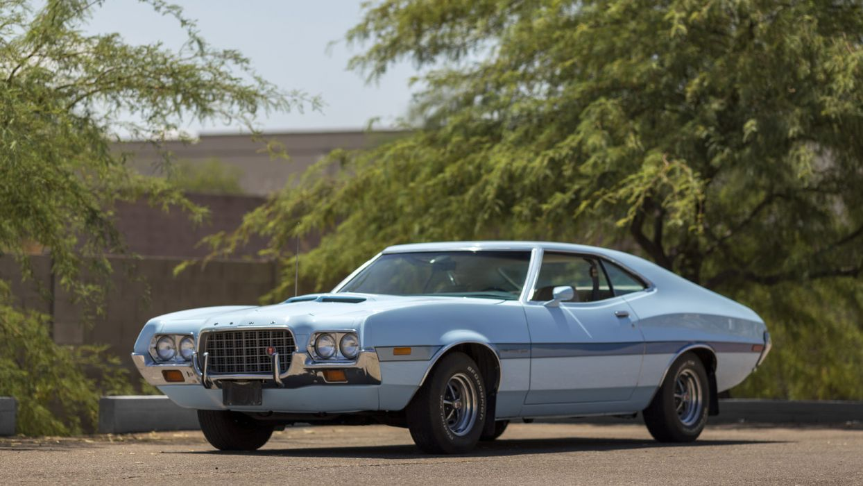 1972 ford gran torino sportsroof 63r fastback muscle classic wallpaper